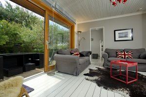 Sylt Bungalow L - Ferienwohnung, Wohnzimmer